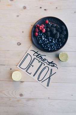 time to detox card and organic food