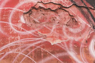 Close-up view of old weathered red wall texture stock vector