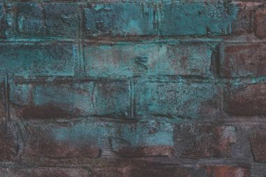 Close-up view of grunge brick wall textured background stock vector