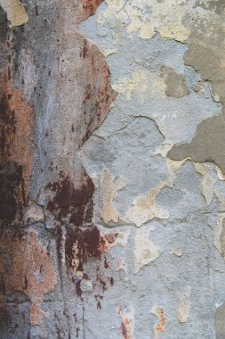 Close-up view of old scratched  weathered wall texture stock vector