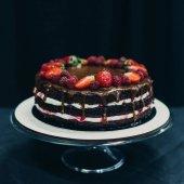 Krémové čokoládový dort