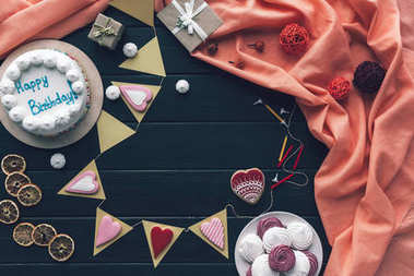 decoration and sweets for birthday celebration