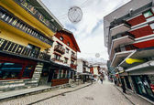 krásné ulice Rakouská města v horách