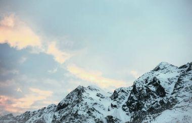 tranquil mountains landscape under blue twilight sky, Austria