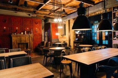 stylish atmospheric interior of empty bar