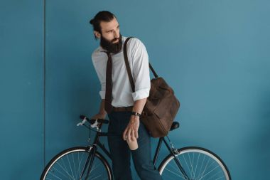businessman cyclist