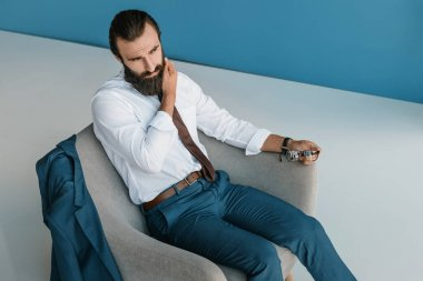 concentrated young businessman