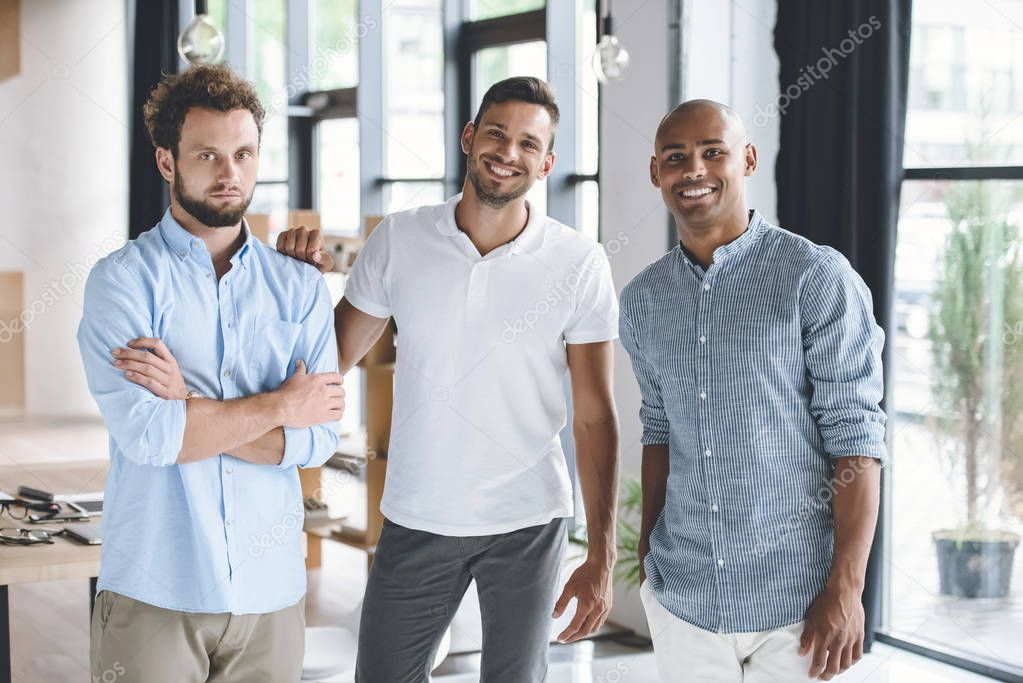 multiethnic young businessmen