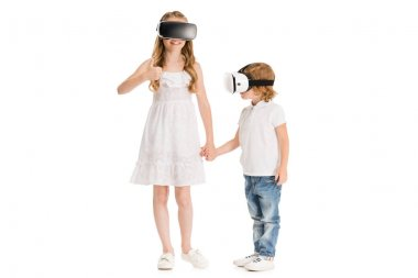 kids in virtual reality headsets