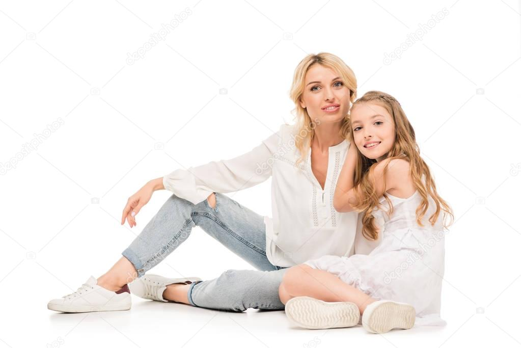Mother Hugging Her Daughter - Stock Photos | Motion Array