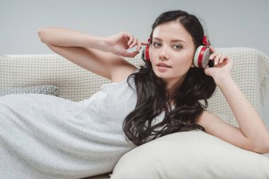 Young woman in headphones