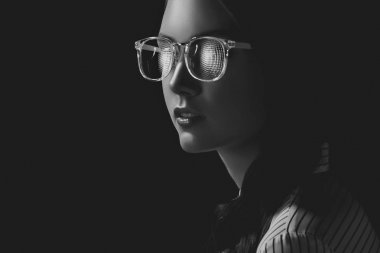 woman in sunglasses and shirt