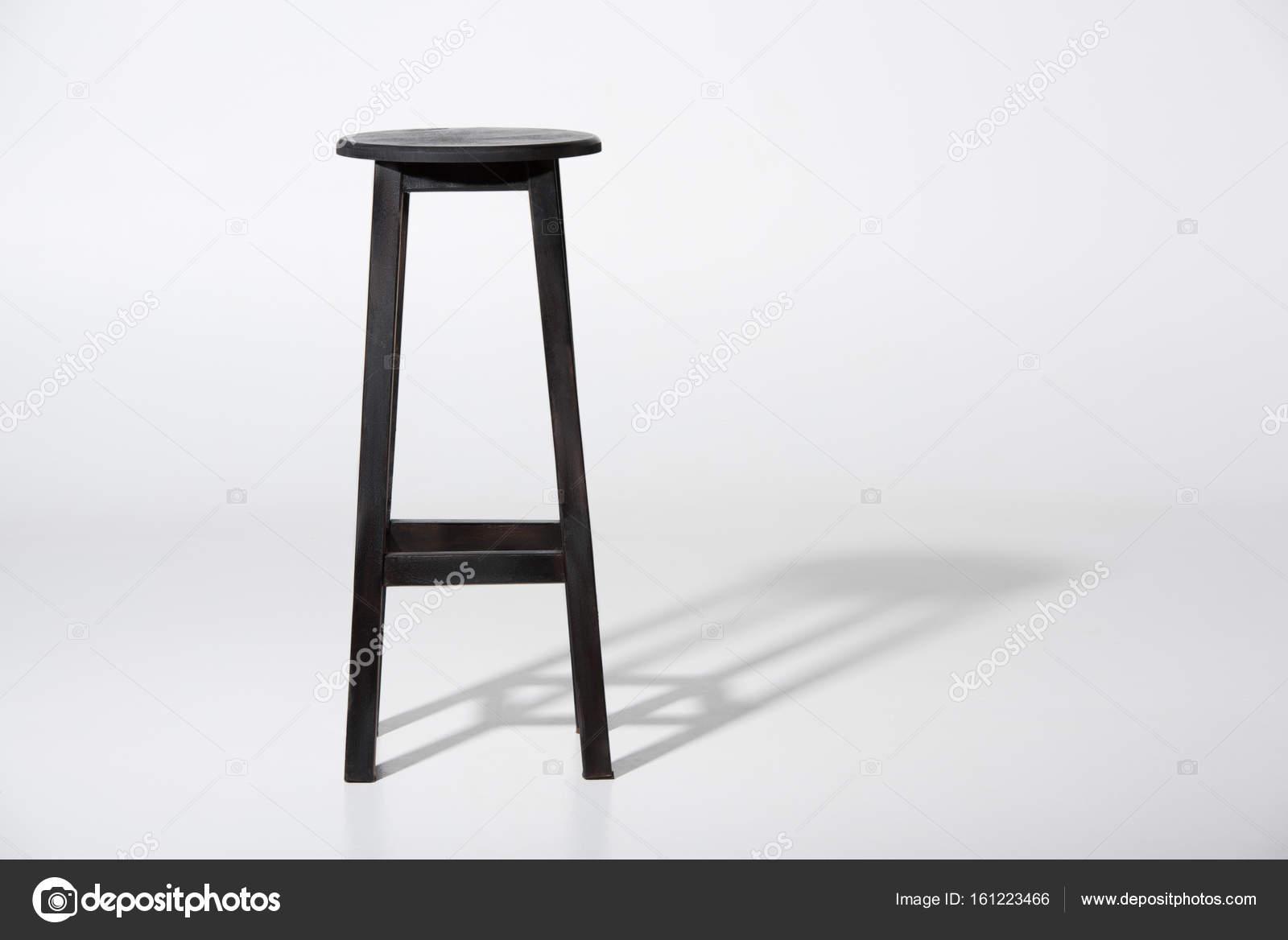 Sgabello da bar nero classico u foto stock vitalikradko