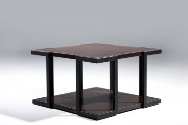table with brown wooden top