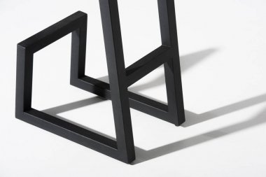 black metallic legs of stool