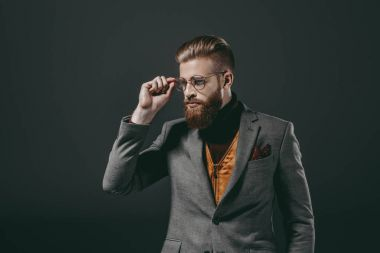 handsome man in eyeglasses
