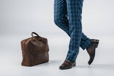 fashionable man with bag