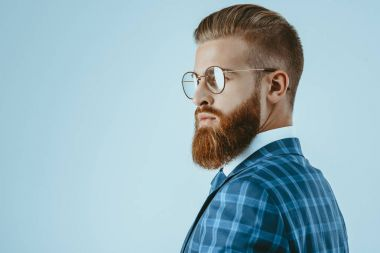 Man in eyeglasses with stylish hairstyle