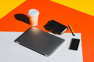 Laptop, smartphone and coffee