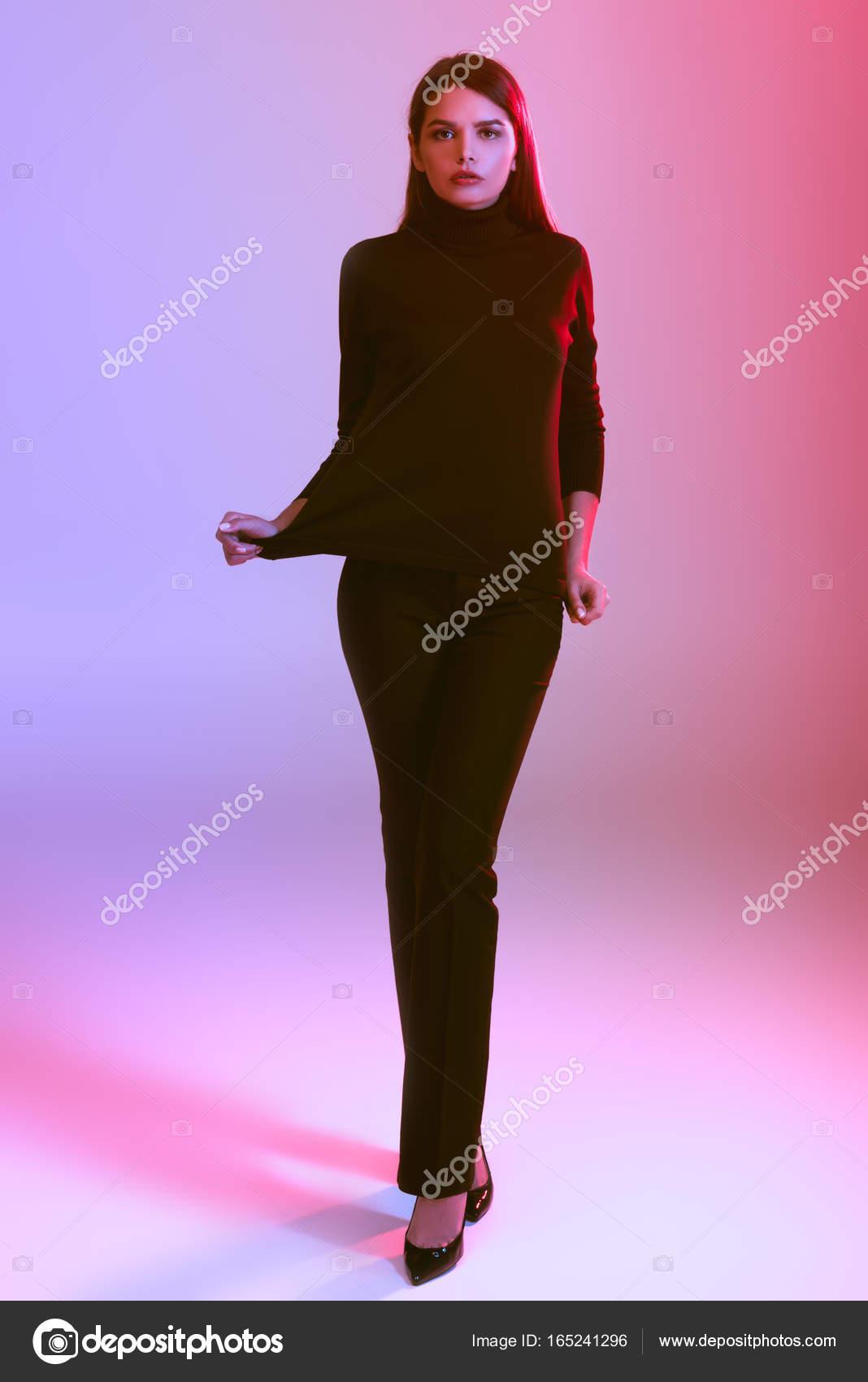 Excelente Vestidos De Color Rosa Y Negro Del Partido Modelo ...
