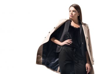 girl in trench coat