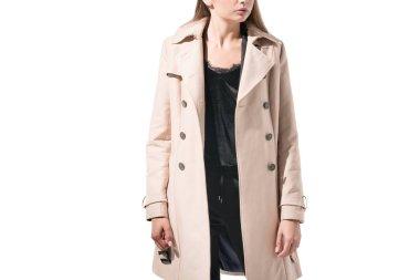 girl in classic trench coat
