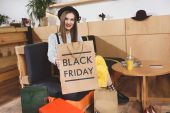 Photo shopping bag with black friday