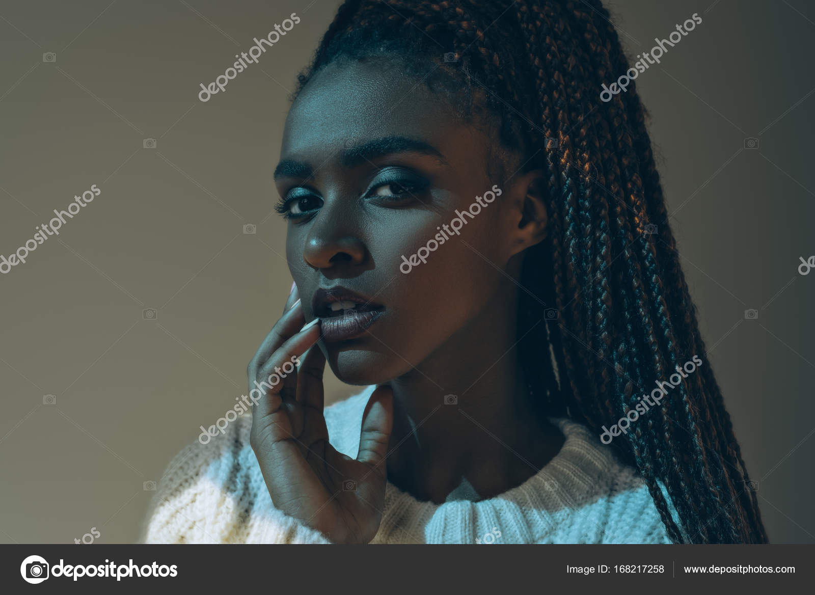 アフリカ系アメリカ人の美人 — ...