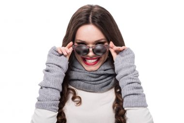woman in arm warmers wearing sunglasses