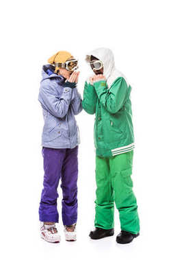 snowboarders in snowboarding glasses