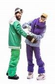 Fotografie Snowboarder Folie vorbereiten