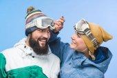 Žena na snowboardové brýle
