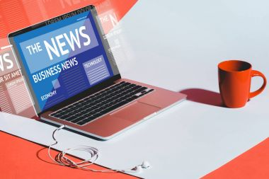 laptop with news