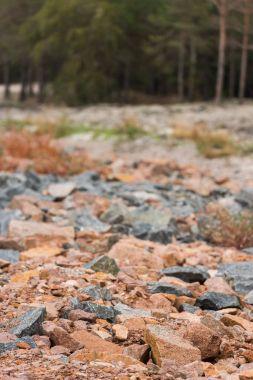 red and grey granite rocks