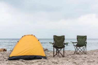 camping tent on seahore