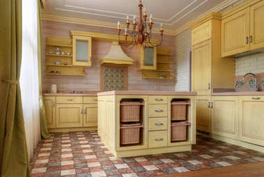 kitchen in country house
