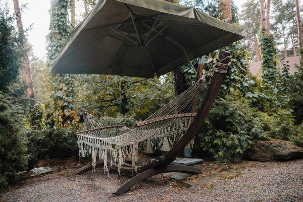 hammock in courtyard