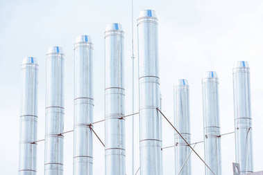 Industrial pipes background