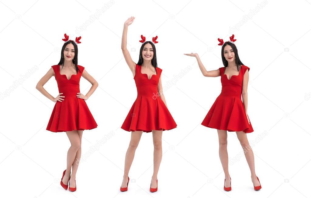 asian woman in deer costume