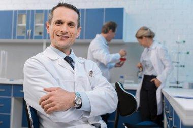 Smiling medical worker