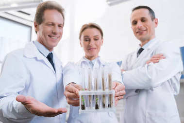 Team of scientists in lab