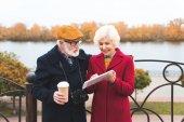 Fotografie senior couple using digital tablet