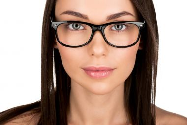 young woman in eyeglasses
