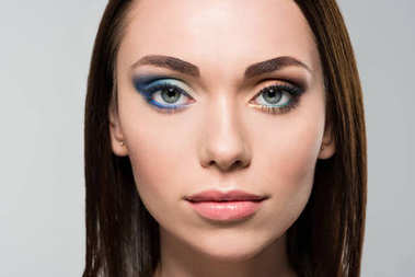 woman with different makeup