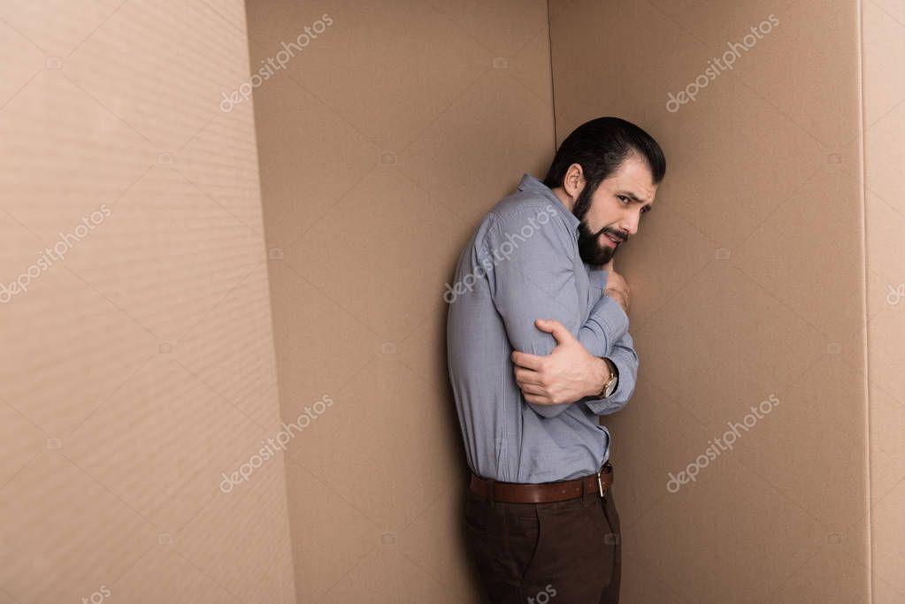 depressed lonely man