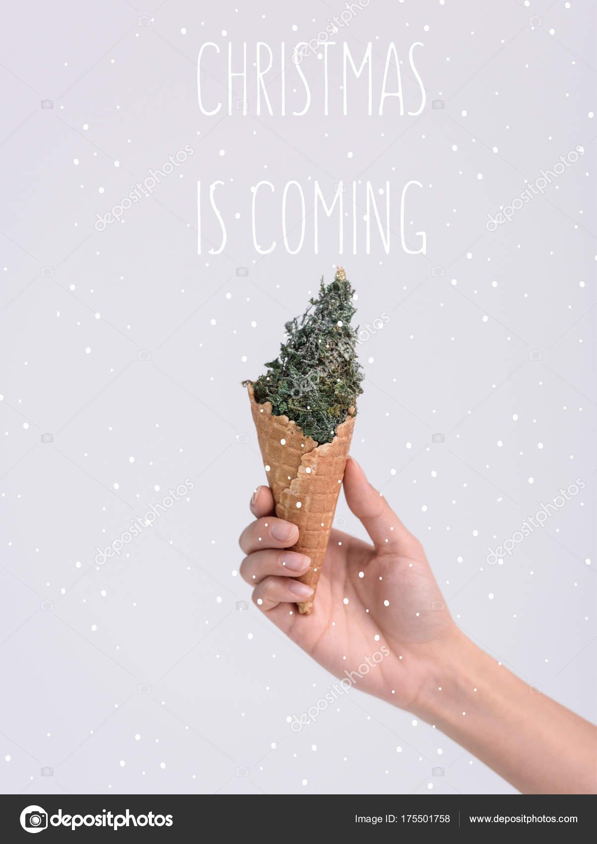 ice cream cone with christmas tree — Stock Photo © VitalikRadko ...