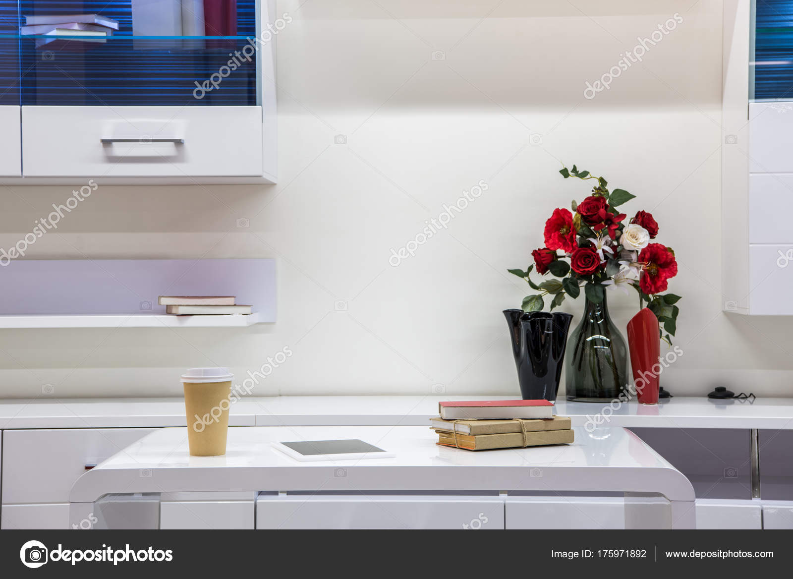 Moderne Wohnzimmer Einrichtung Mit Möbel — Stockfoto ...