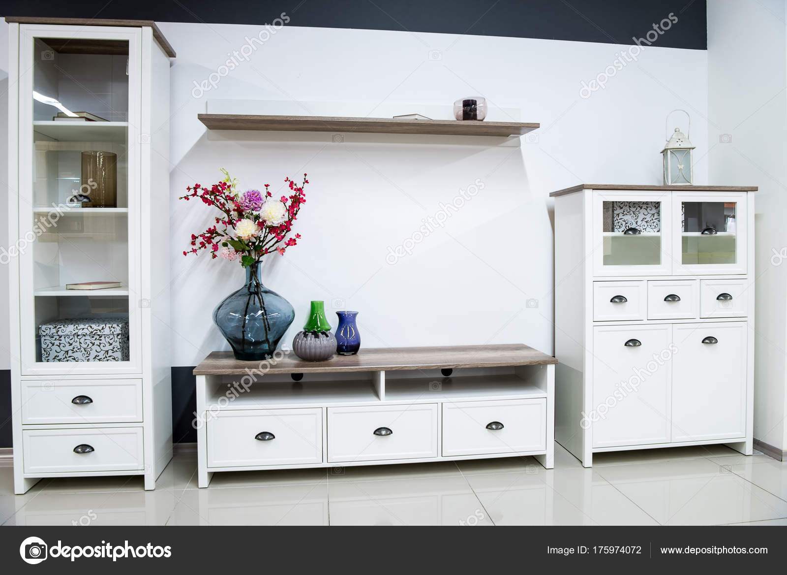 Images Shelves In Living Room Modern Living Room Interior Closet Shelves Stock Photo C Vitalikradko 175974072
