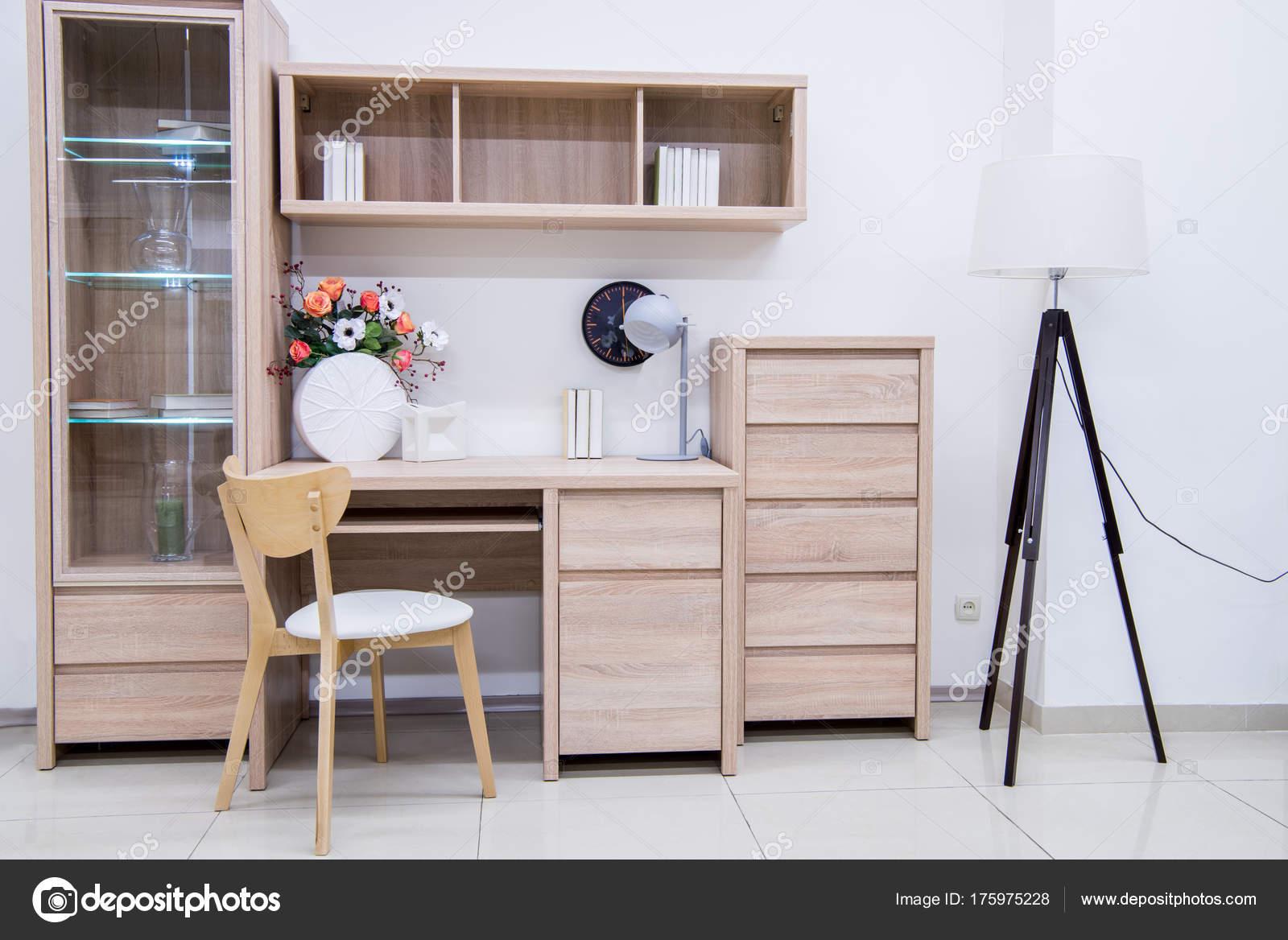 Inspirierend Wohnzimmer Einrichtung Modern Foto Von Moderne Mit Möbel — Stockfoto