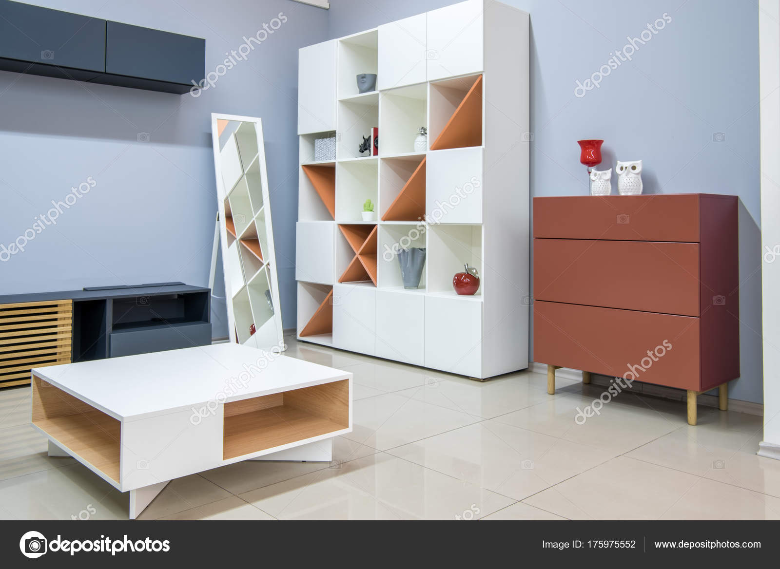 Moderne Wohnzimmer Einrichtung Mit Möbel Stockfoto Vitalikradko